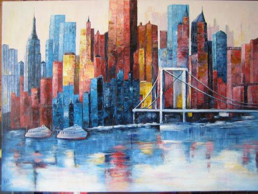 New York Acryl auf Maltuch
