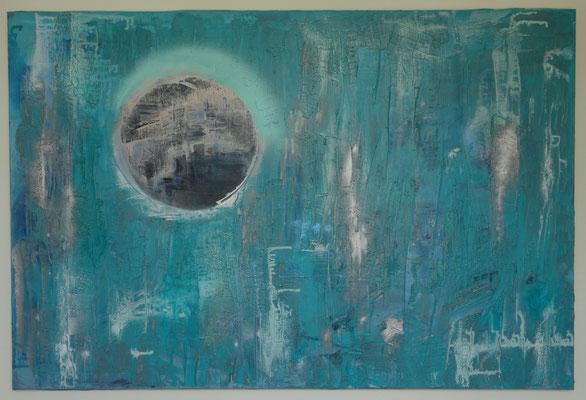 80 x 120 cm - Acryl, Spray, gespachtelt