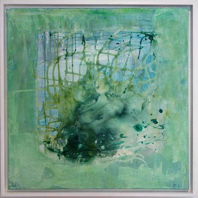 60 x 60 x 2 cm, Schattenfugenrahmen - Acryl, Lack, Airbrushtinte