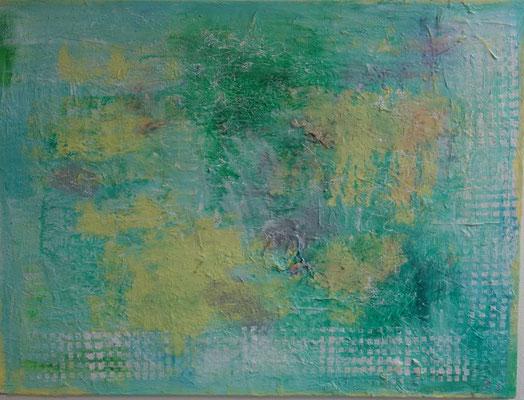 60 x 80 cm - Acryl, Strukturmaterial, Heißkleber, dupli color Marmorierspray
