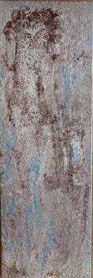 30 x 90 cm - Acryl, Silikonöl, Wasser, Fließmedium auf Strukturmaterial