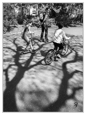 Patinette Roller et vélo Cliché de Stéphane