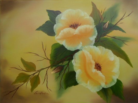 Blütentraum in gelb 45x60