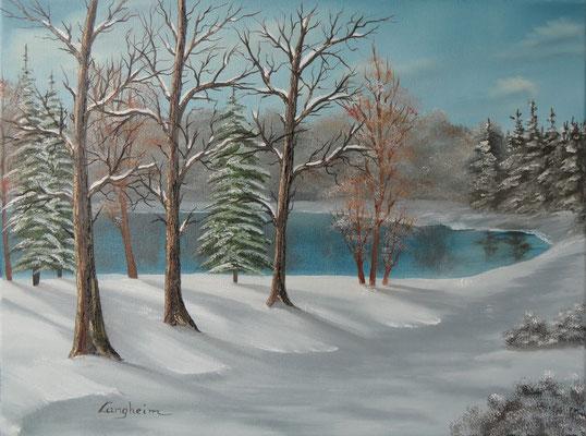 Kalter Wintertag 45x60