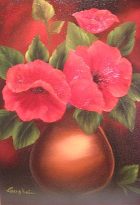 Mohn in Vase 40x50