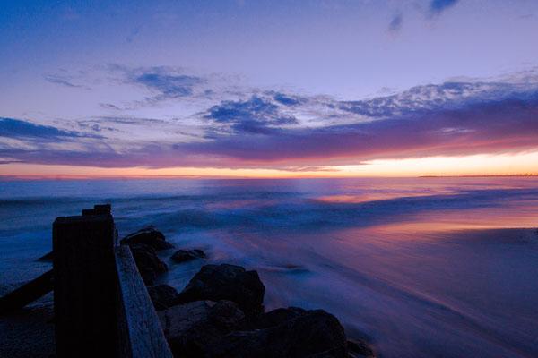 Fin du jour sur l'océan - paysage photo nature ©Alexandre Roubalay - Acadiau d'images