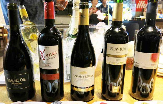メンシア100%のワインたち