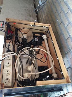 lichtkap incl ventilatoren voor ventilatie en eventueel wind