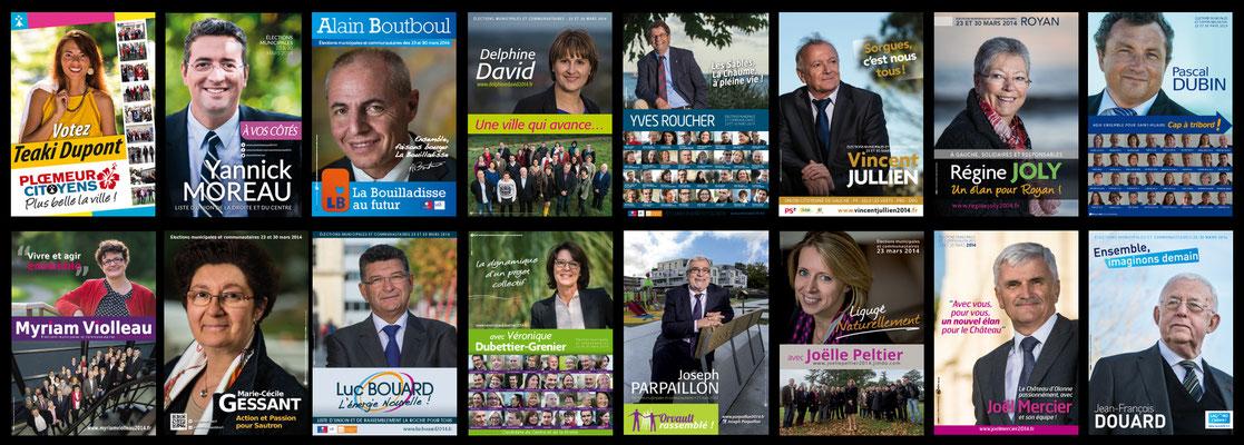 Affiches électorales - Elections municipales 2014