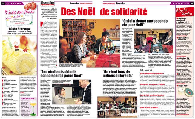 """France Soir """"Des Noël de solidarité"""""""