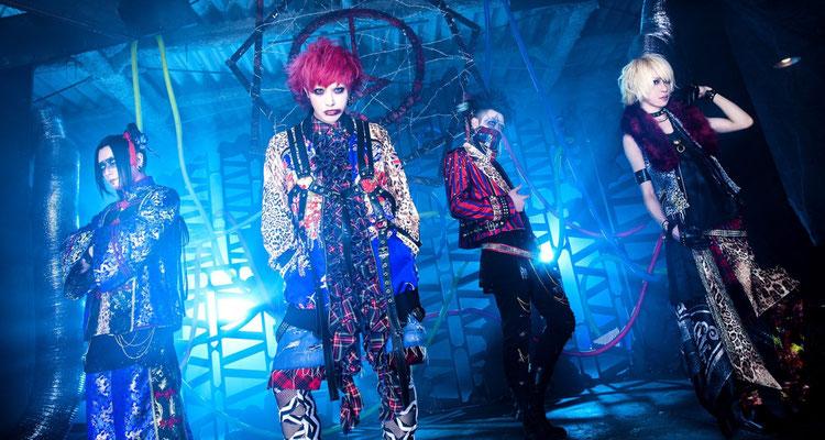 """Mai 2018, Look zu """"Toge""""; von links nach rechts: meN-meN, Hayato, Chamu, Yume"""