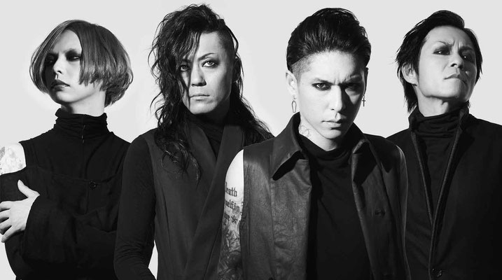 """Oktober 2017: Look zu """"Blood thirsty creature""""; von links nach rechts: Yusuke, Asanao, Hazuki, Reo"""
