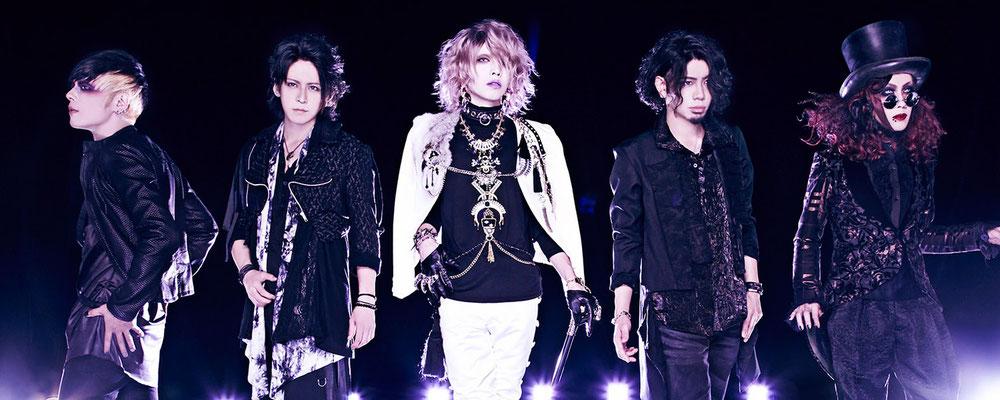 "September 2016, Look zu ""Moonlight Down""; von links nach rechts: Zero, Hiyuu, Yuuki, Ichirou, Satoshi"