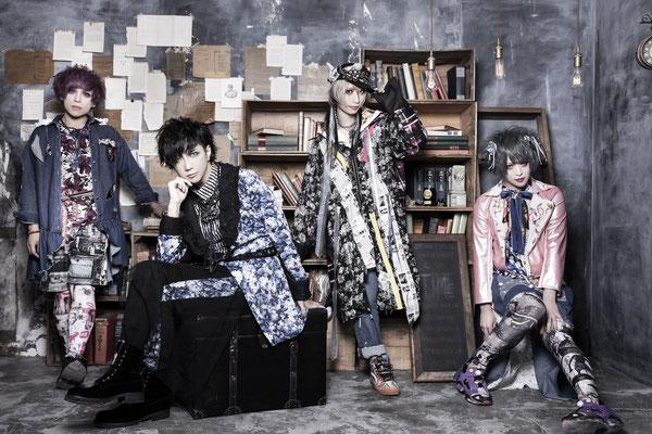 """Juni 2019, Look zum ersten Mini-Album """"Stargazer""""; von rechts nach links: Kazuki, Rui, yuiha, An"""