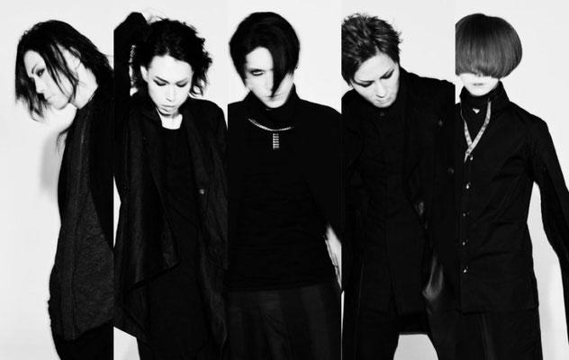 """Juni 2018: Loo zu """"XII""""; von rechts nach links: Asanao, Akinori, Hazuki, Reo, Yusuke"""