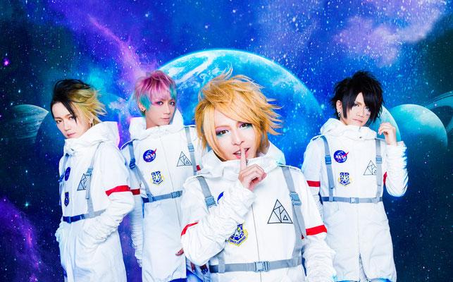 """August 2016: Look zu """"Uchuu Traveller""""; von links nach rechts: Yuura, Yasuno, Keiyuu, Taizo"""