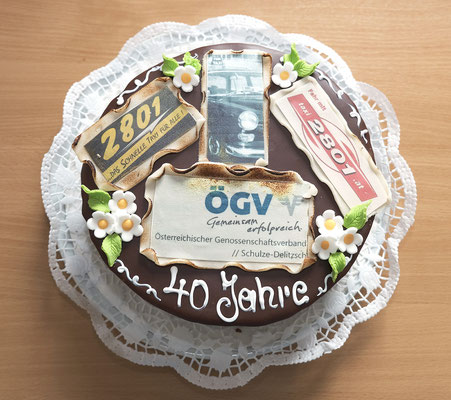Die Torte zu 40 Jahre Mitgliedschaft beim ÖGV