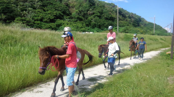 体験乗馬会、たくさんの子供が乗ってくれました!