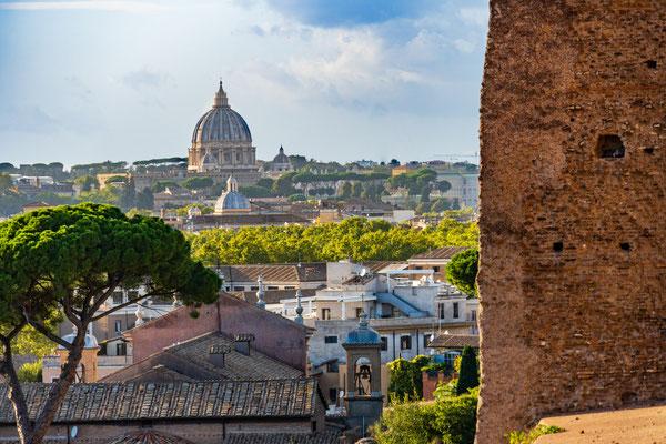 Blick vom Platin zum Petersdom