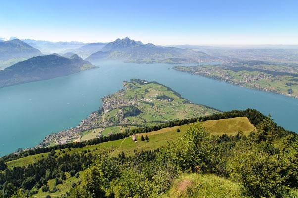 Blick auf den Vierwaldstätter See vom Rigi