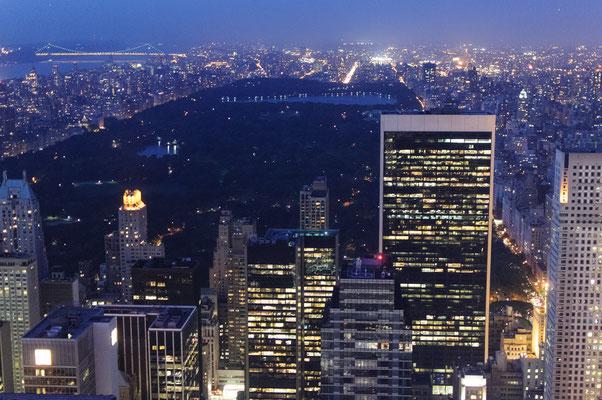New York mit Blick über den Central Park