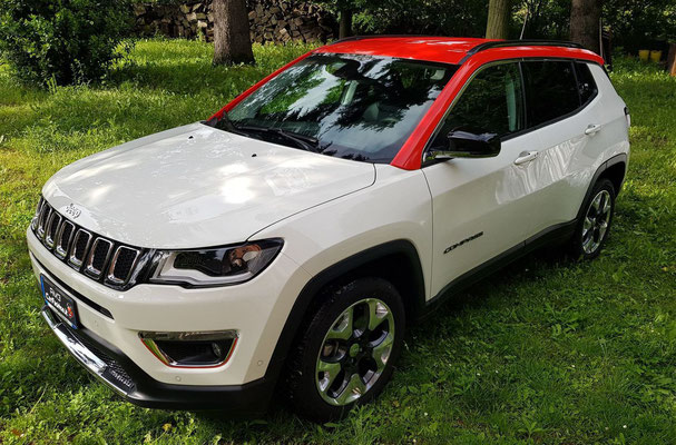 Jeep Compass - Tetto rosso lucido - Wrapping parziale