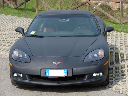 Chevrolet Corvette - Wrapping completo carbonio