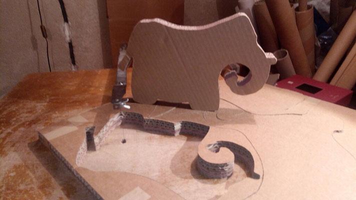 Et voici la forme prête à devenir un cadre ou un miroir.