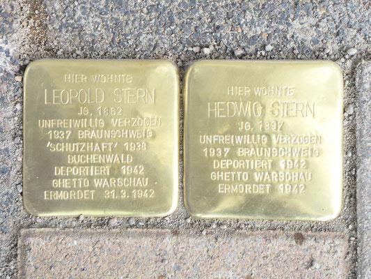 Die Stolpersteine für Leopold und Hedwig Stern