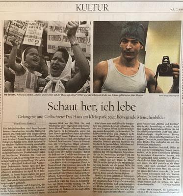 """Artikel über die Ausstellung im Tagesspiegel / Artículo sobre la exposición en el """"Tagesspiegel"""""""