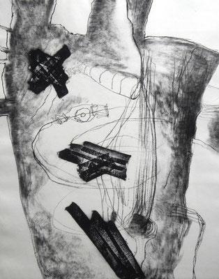 """wounded torso 1""/Original Druckgrafik/original etching/50x40cm/2014"