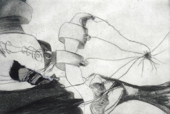 """""""der unaufhaltbare Leuchtsturm""""/Original Druckgrafik/original etching/2014"""