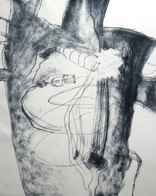 """wounded torso 2""/Original Druckgrafik/original etching/50x40cm/2014"