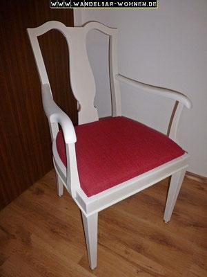 Stuhl mit Vorstreichfarbe, Stuhl streichen, DIY