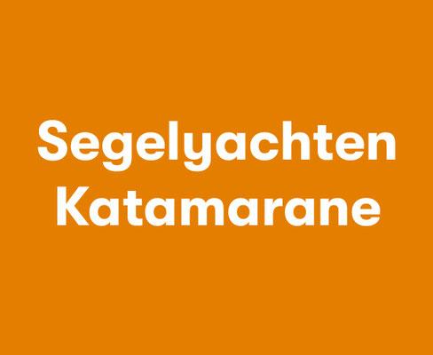 Segelyacht Katamaran im Mittelmeer segeln