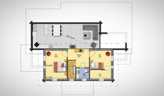plan étage de la maison