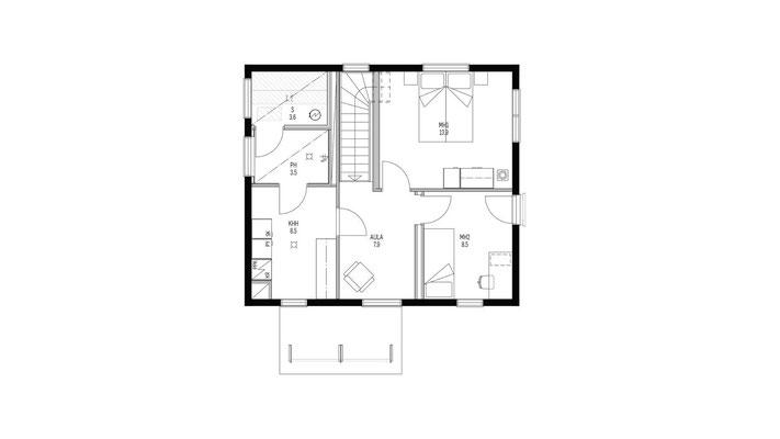 Plan étage maison bois
