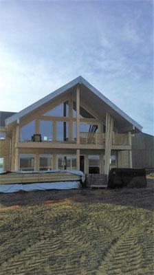 Façade maison bois