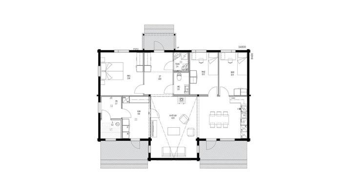 Plan maison en bois N°40