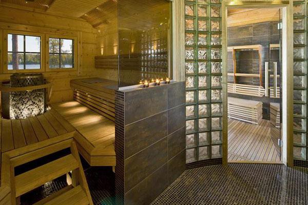 maison en bois sauna