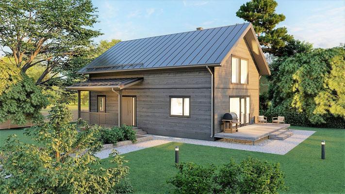 Maison en bois 122m²