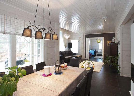 maison en bois intérieur