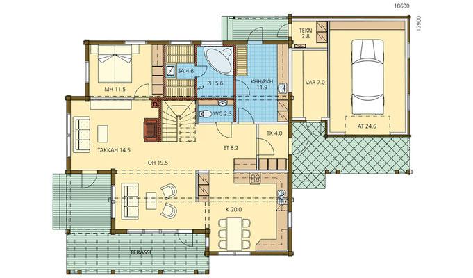 Plan maison bois 28