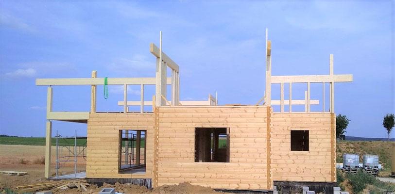 Etage maison en bois