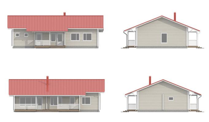 Plan de coupe maison en bois