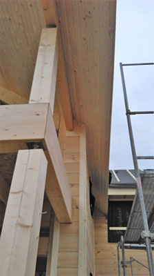 Finition bois balcon