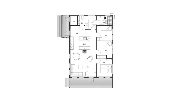 Plan maison en bois N°36