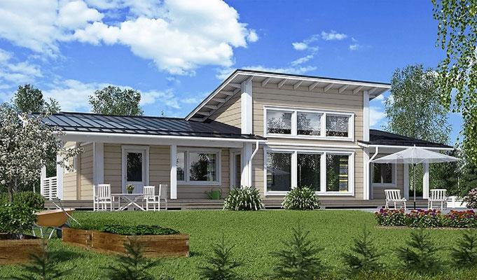 Photos maisons en bois chalet en kit maison en bois - Maison prefabriquee bois prix ...