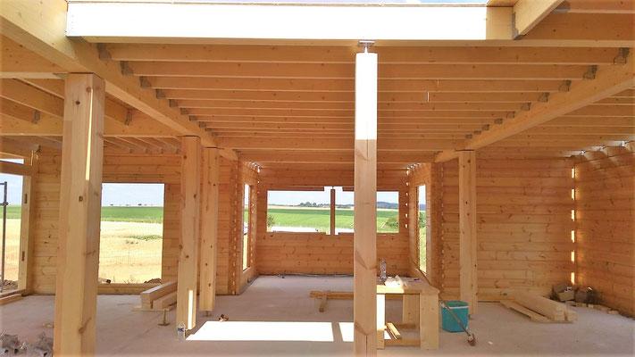 Poutre maison en bois