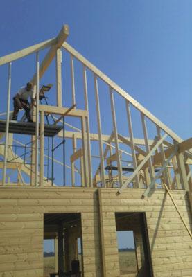 maison en bois montage